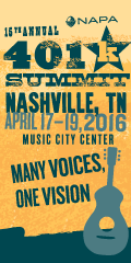 Advisors: Attend NAPA's 2016 401(k) Summit, April 17-19 in Nashville