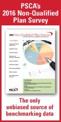 PSCA's 2016 Non-Qualified Plan Survey - the only unbiased source of benchmarking data