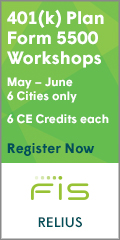 401(k) Plan Form 5500 Workshops - May-June - 6 cities