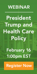 Webinar: President Trump and health care policy, February 16 at 1pm EST