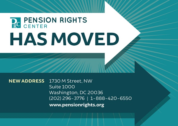 Pension Rights Center has moved
