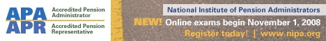 Banner ad for The National Institute of Pension Administrators